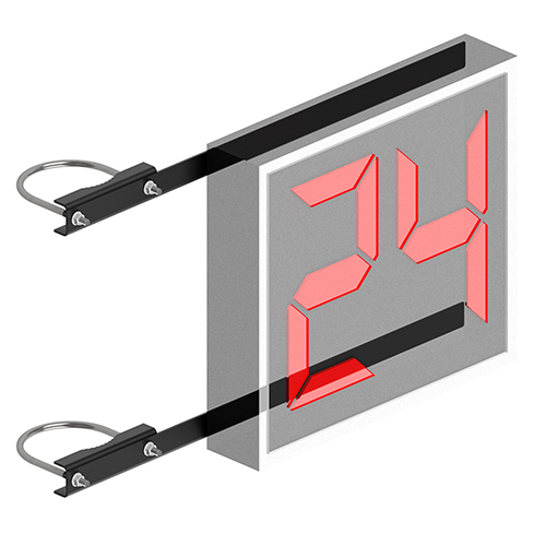 Shot Clock Mounting Bracket (only) (2-3/8″ Double Drop)