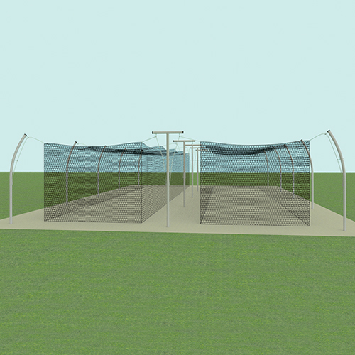 55' Professional Tandem Outdoor Batting Tunnel Frame